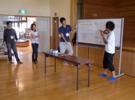 学生運営代表による説明